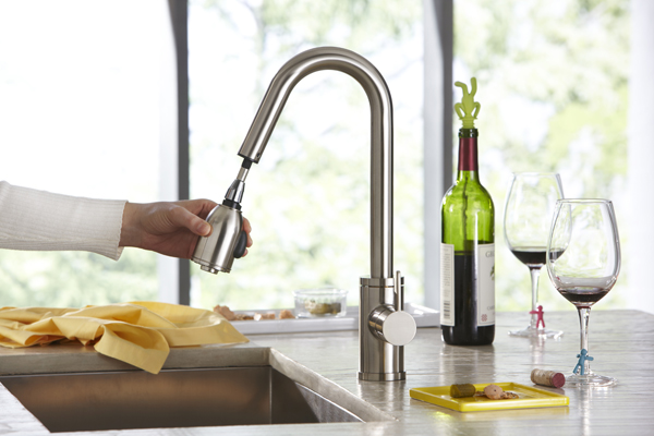 Pull and down faucet