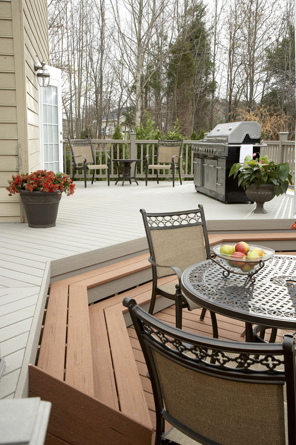 Composite decking makes a beautiful porch